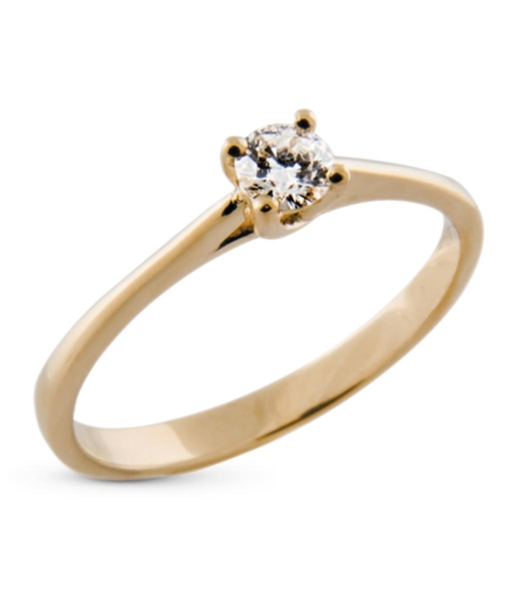 944639ce20e Anel Solitário de Ouro 18k com Diamante no Elo7