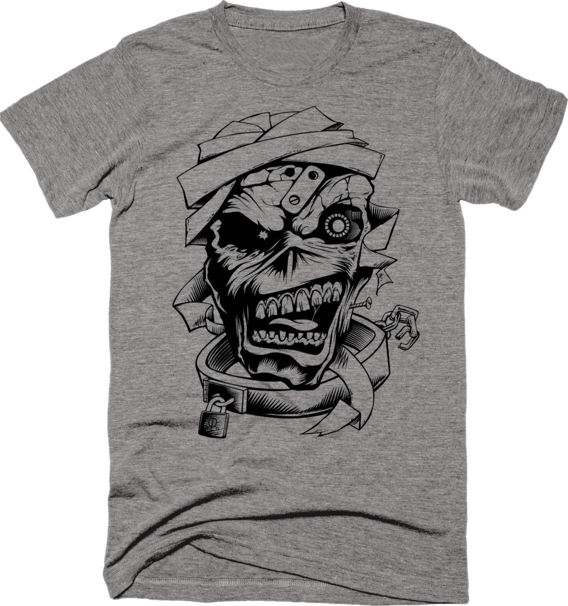 9ebf0d1dbd Camiseta Banda Iron Maiden Cinza 01 no Elo7