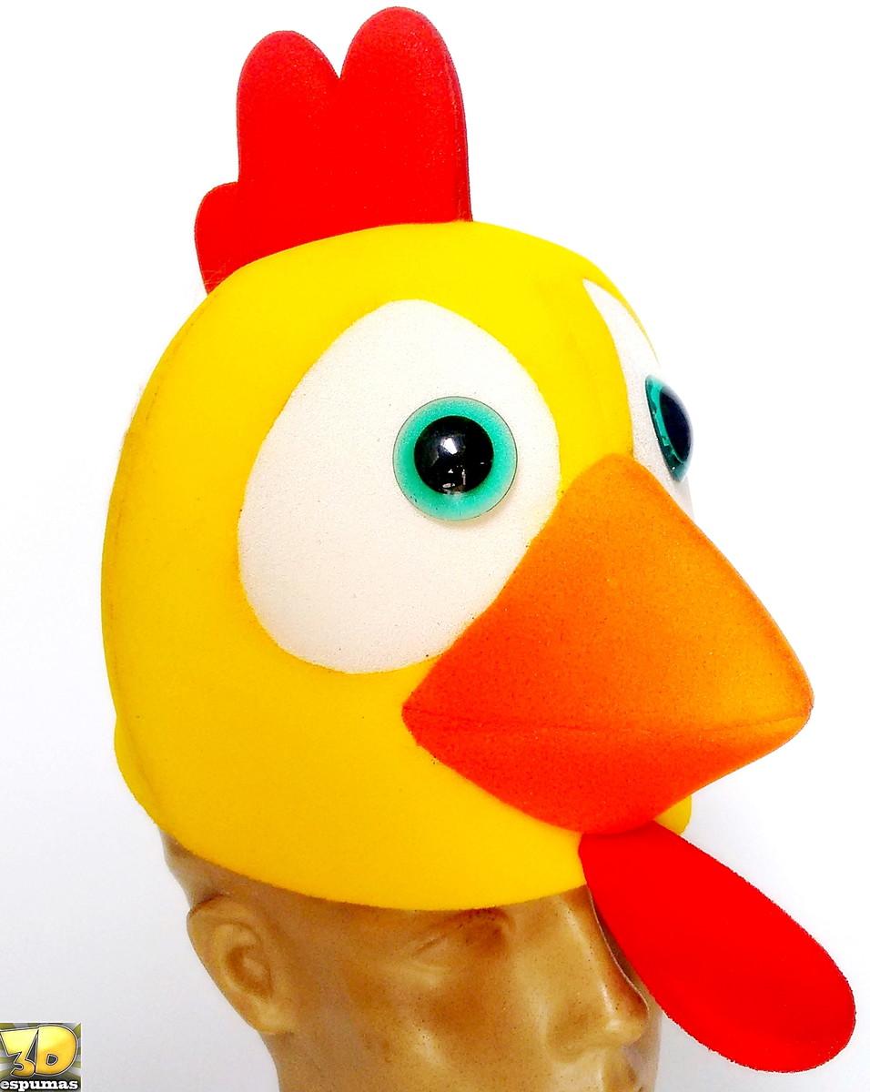 chapéu de galinha em espuma no Elo7  d150ae9d187