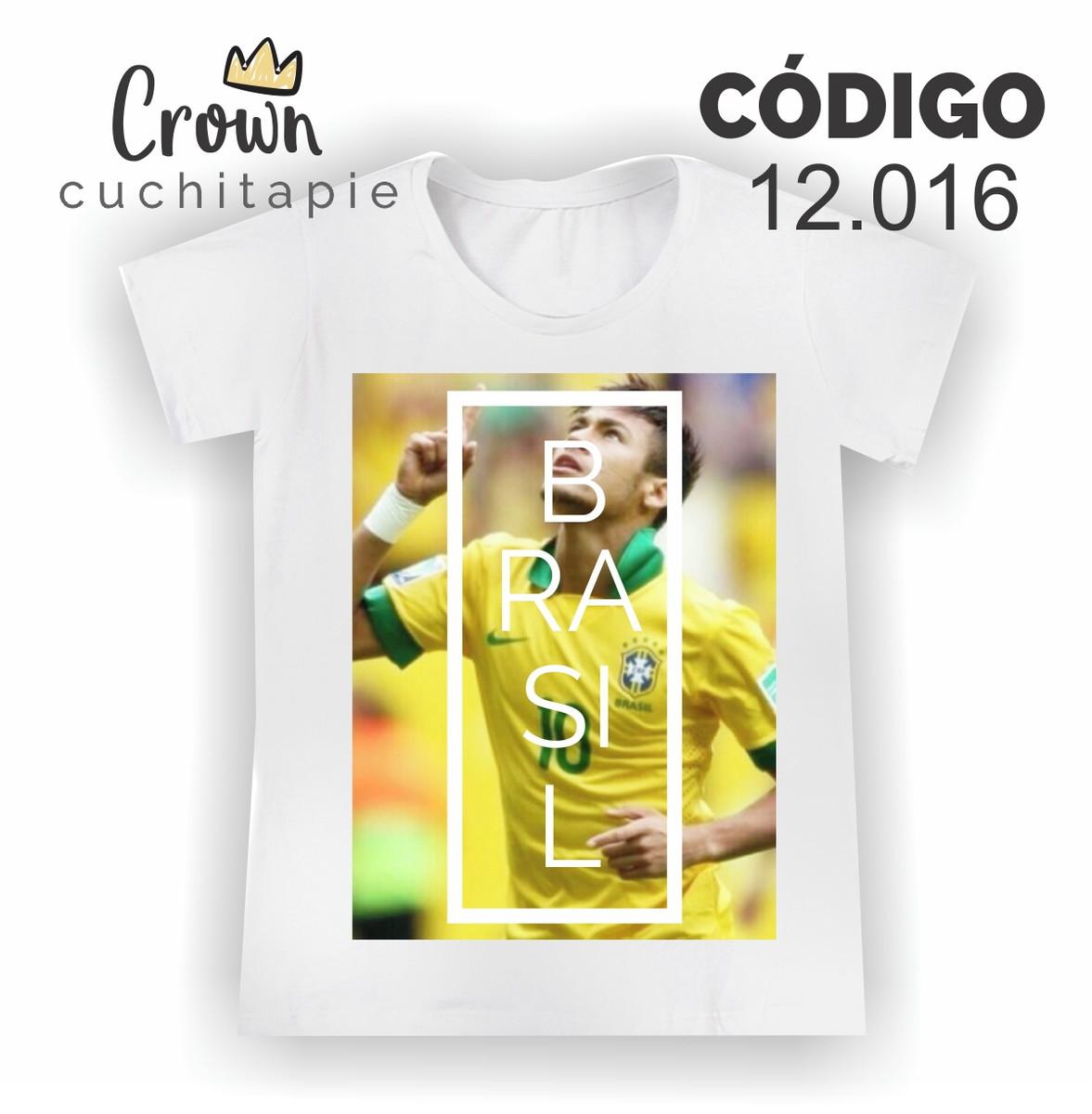 a3d6e80474 Baby look - Copa - Neymar Jr. Brasil no Elo7