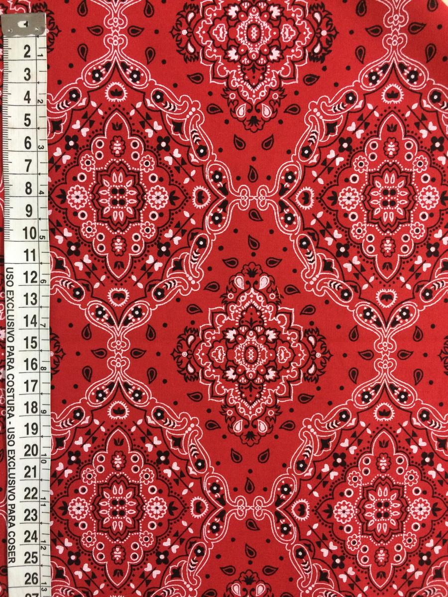 BANDANA Tecido tradicional Vermelha no Elo7  ead1f0c3db6