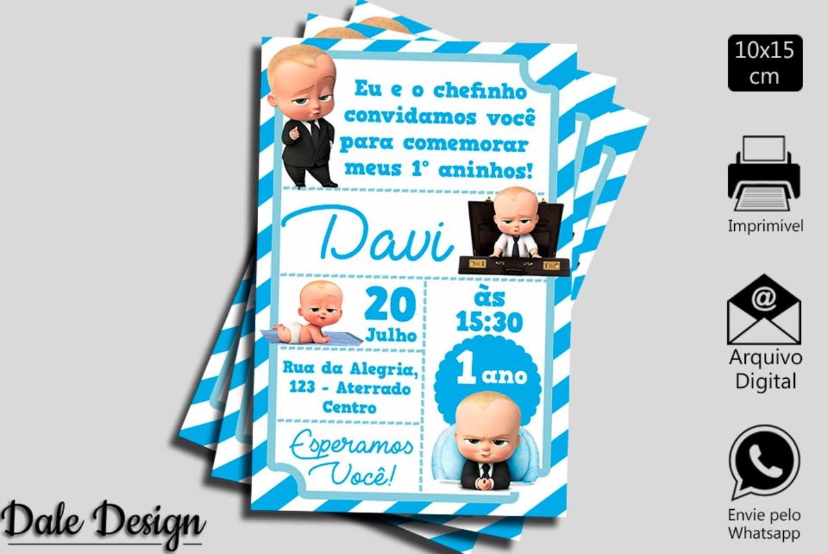 Convite Digital O Poderoso Chefinho No Elo7 Daledesign C5e464