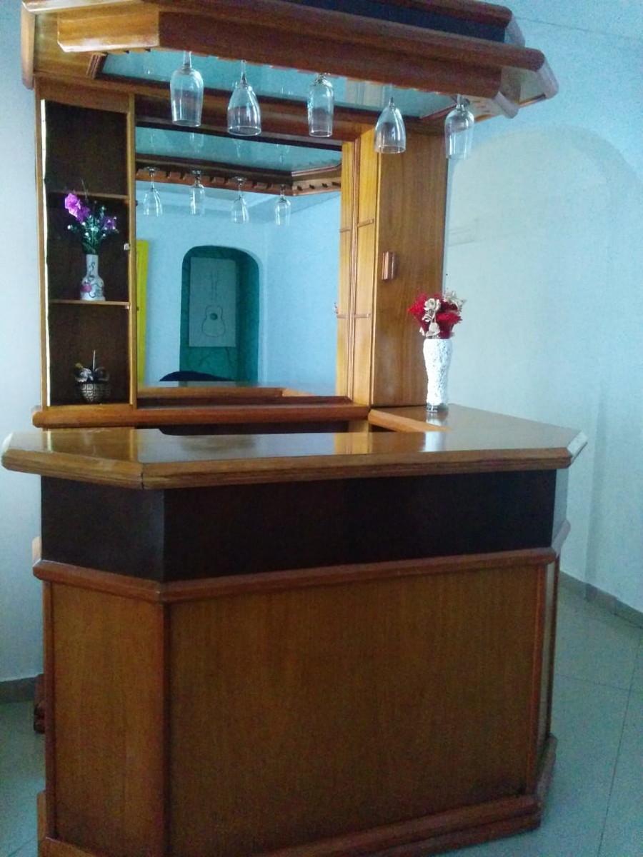 Bar Adega Sala De Estar Madeira Maci A Com Porta Copos Raro No Elo7