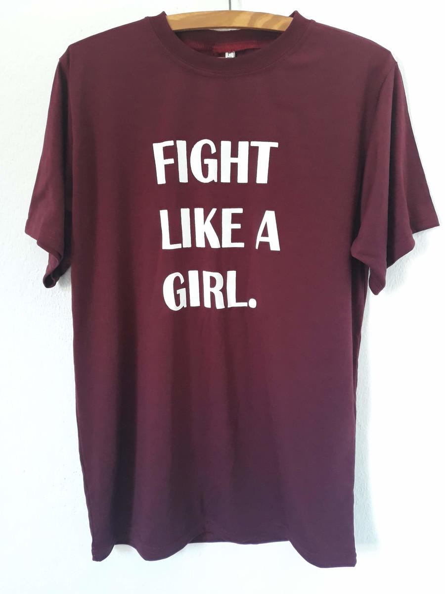 8a5a0467fe Camiseta Feminina Lute como uma garota! no Elo7