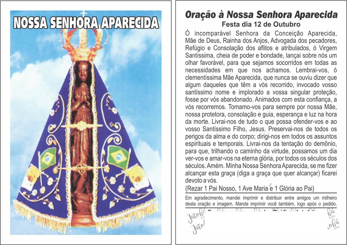 Santo Nosso Fotos Nossa Senhora Aparecida: ORAÇÃO - NOSSA SRA. APARECIDA No Elo7