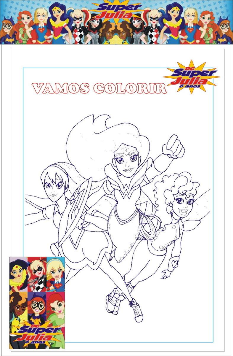 Kit Para Colorir Super Hero Girls No Elo7 M C A Producoes C5f455