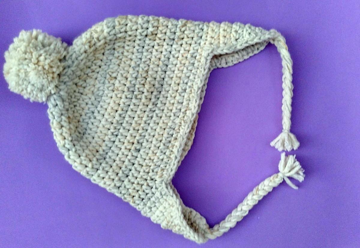 Touca de crochê com tapa orelhas unissex no Elo7  4b6c7023c0d