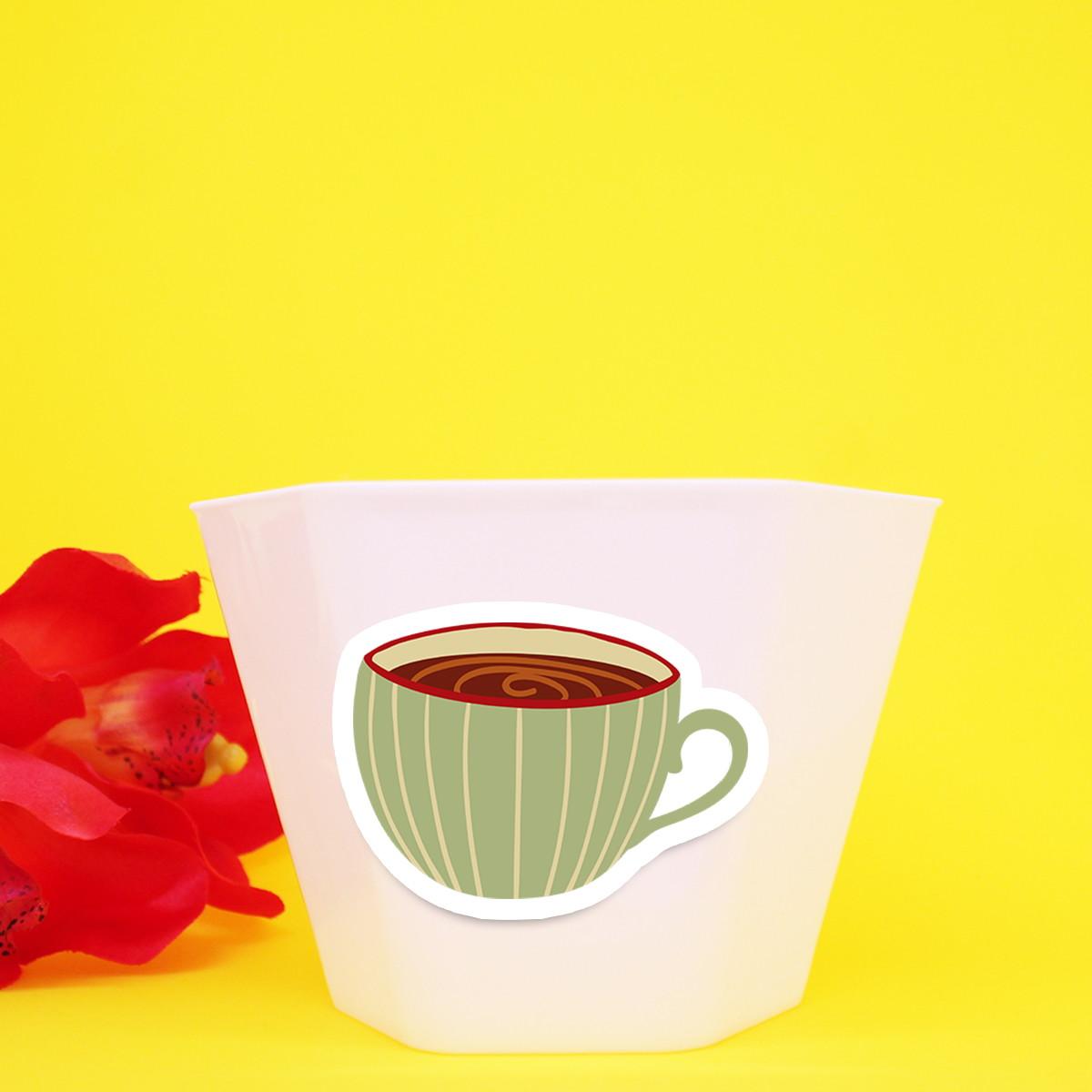 vasinho cachepô com aplique chá de panela xícara no elo7 a carol