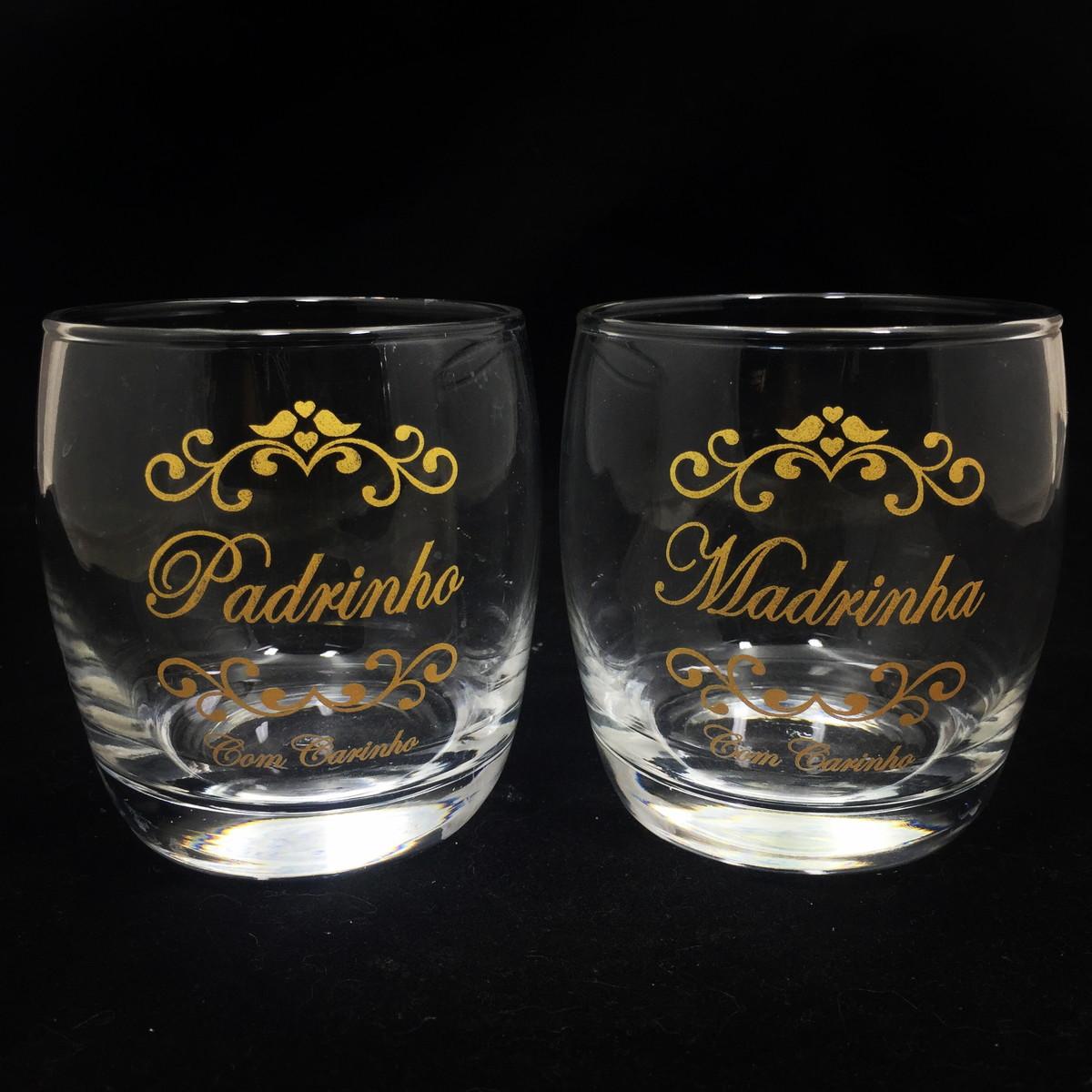 Copo Whisky Vidro Convite Padrinhos Casamento Lembrancinhas