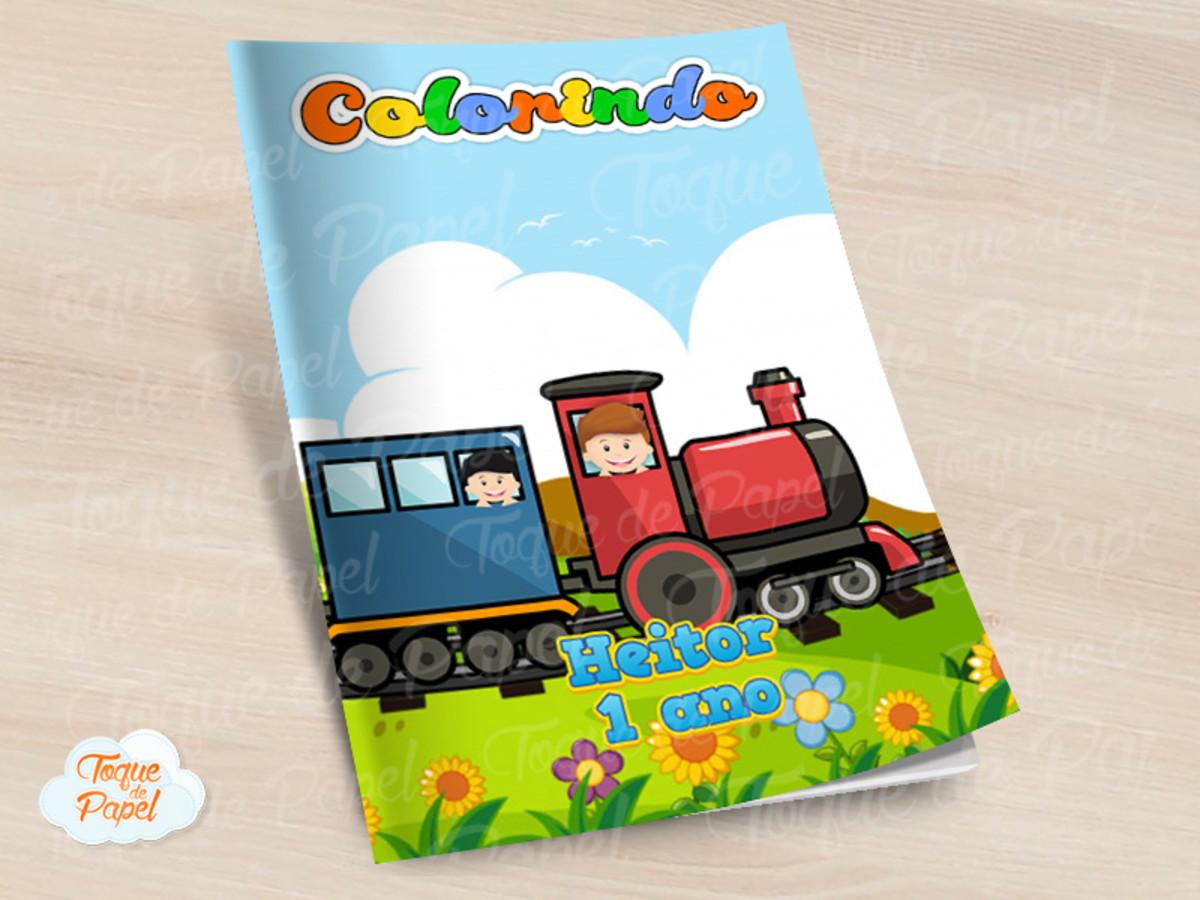 Revista Colorir Trenzinho Trem No Elo7 Toque De Papel C65d88