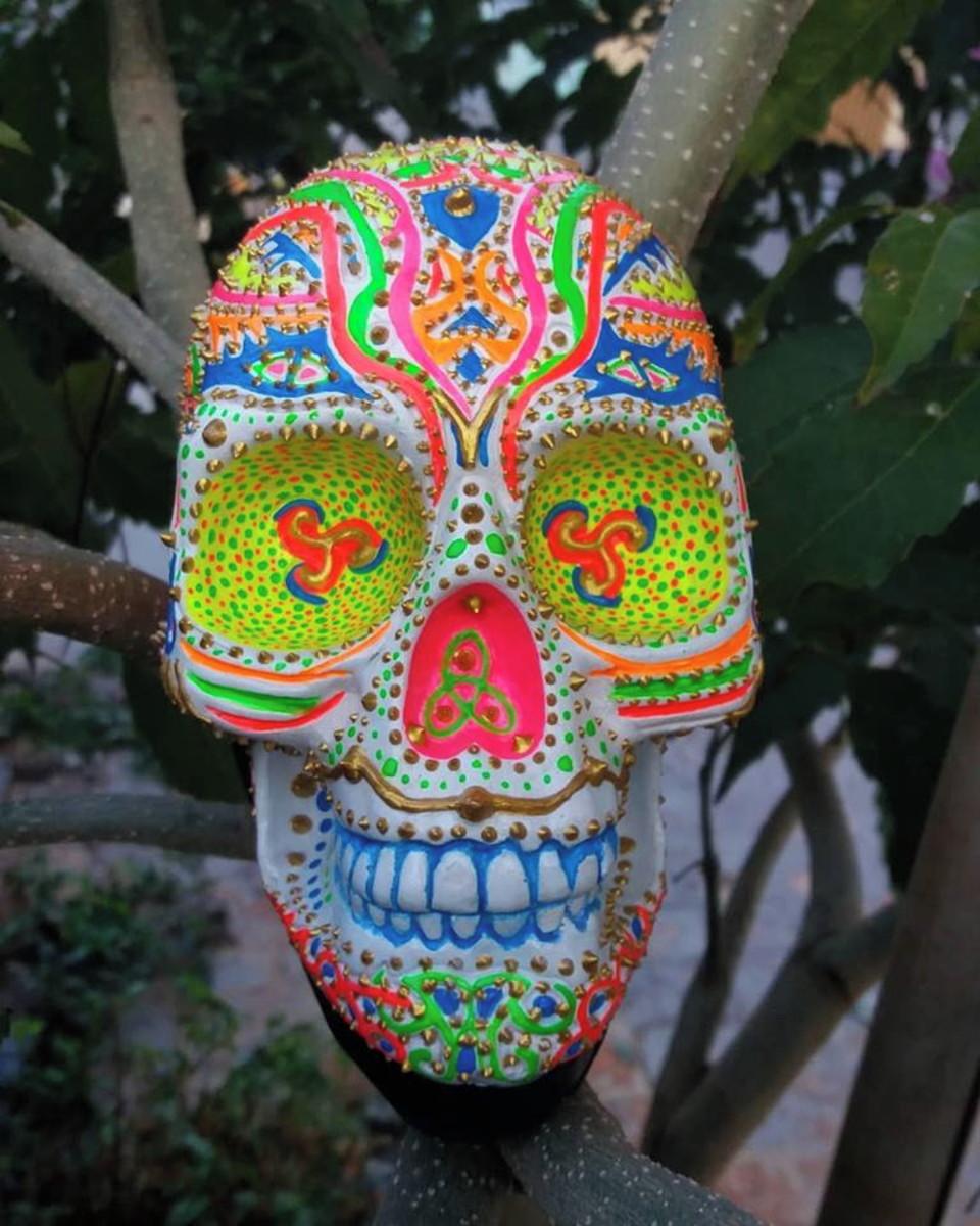 Caveira Mexicana Tribal Neon No Elo7 Aires Art S A C66656