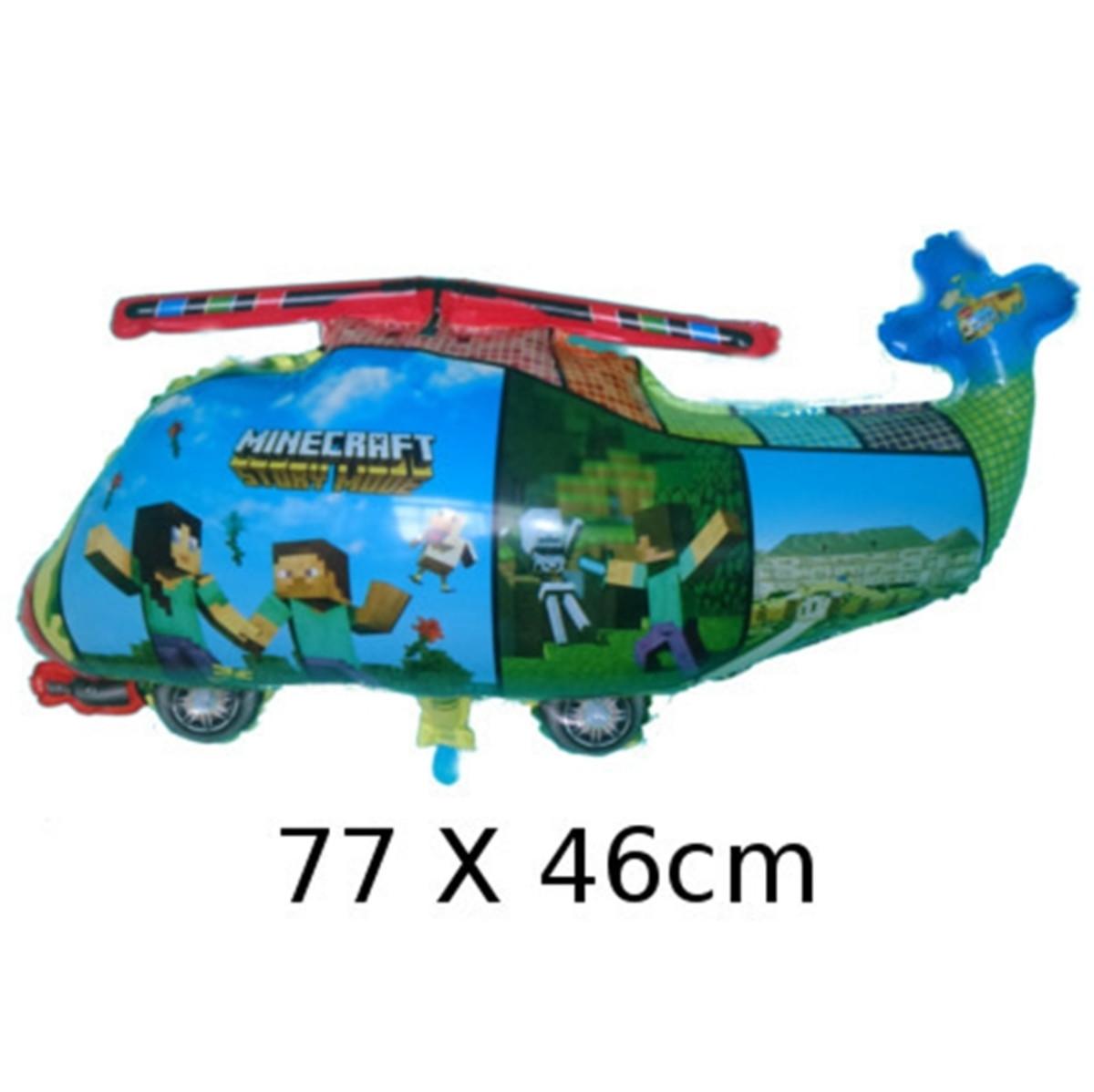 Balão Metalizado Helicóptero Minecraft 77*46cm