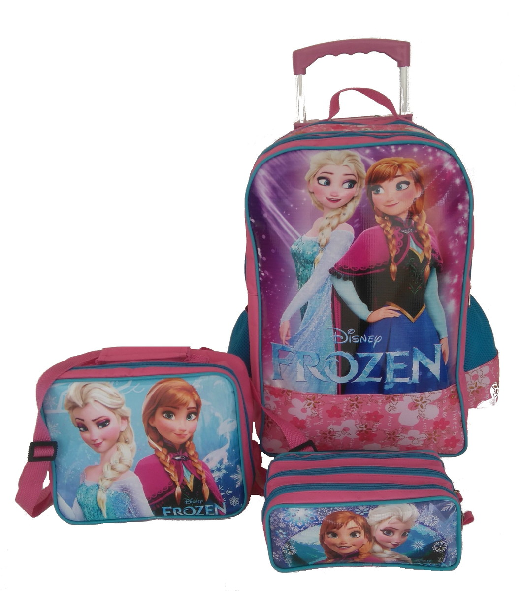73a4a790e Kit Mochila G Frozen Rodinhas Dupla Silicone no Elo7 | NN Shop (C67E48)