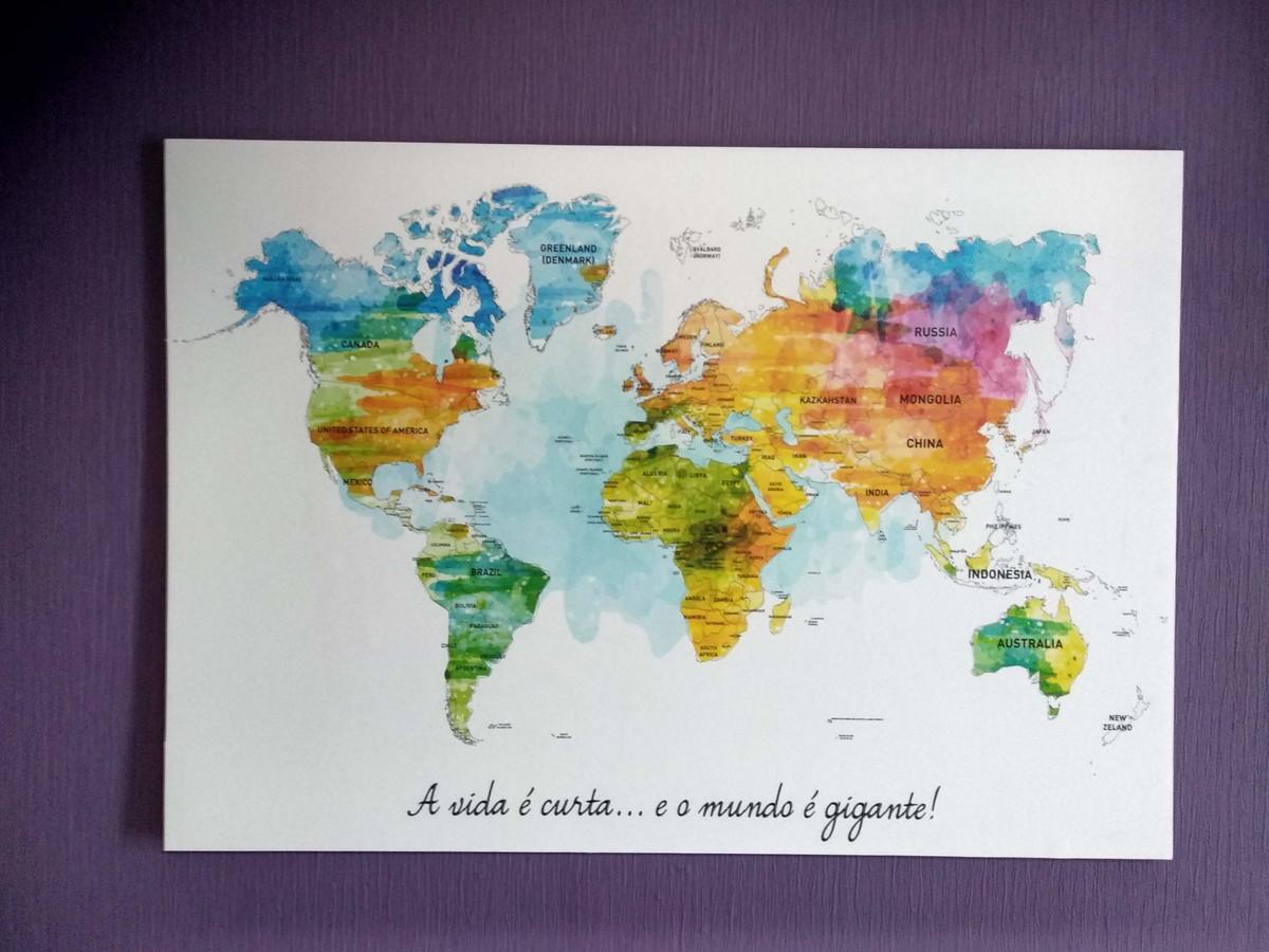 Poster Mapa Mundi Com Paises Aquarelado No Elo7 Tiny Sweet Love
