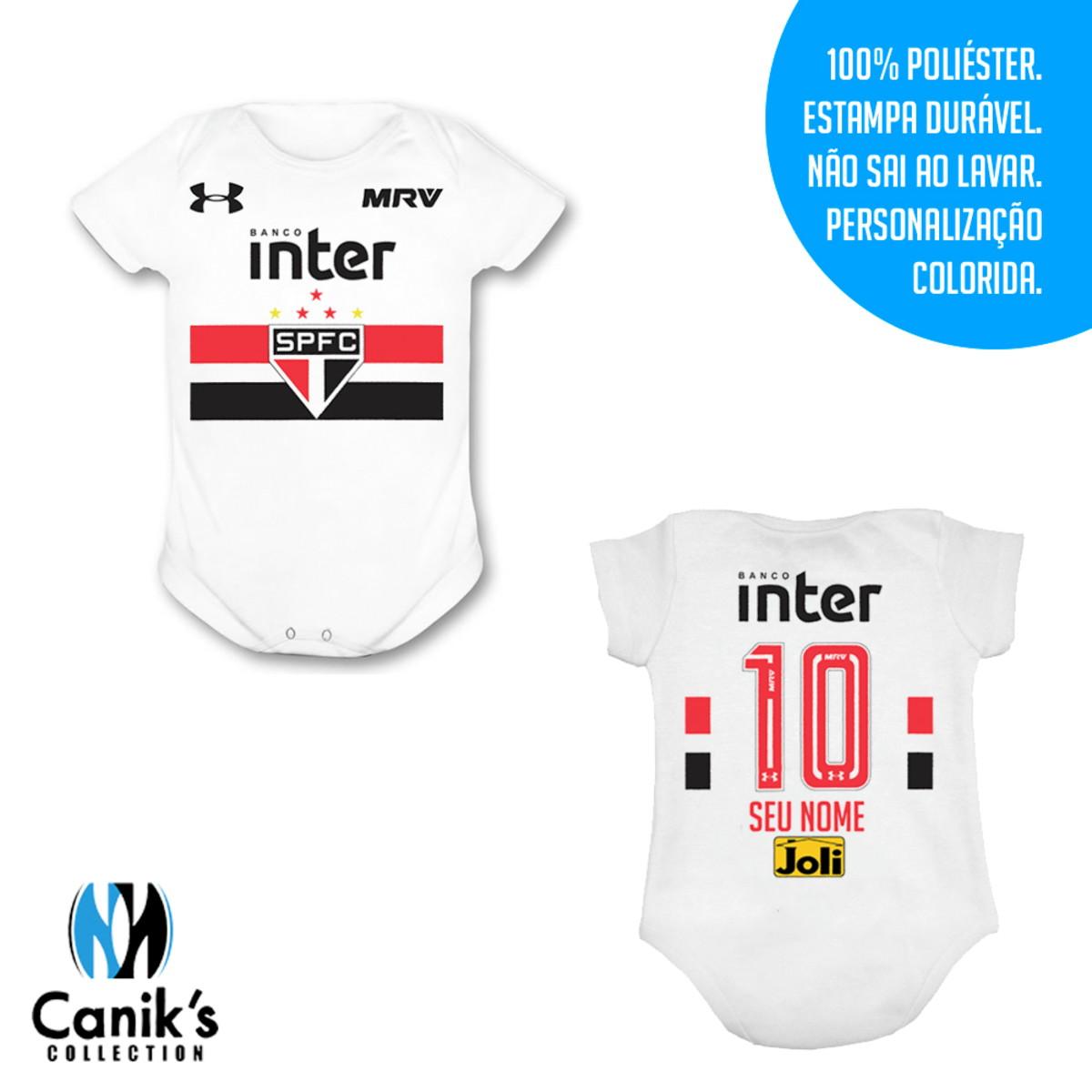 Body Infantil - Uniforme do São Paulo no Elo7  db3c6a665649a