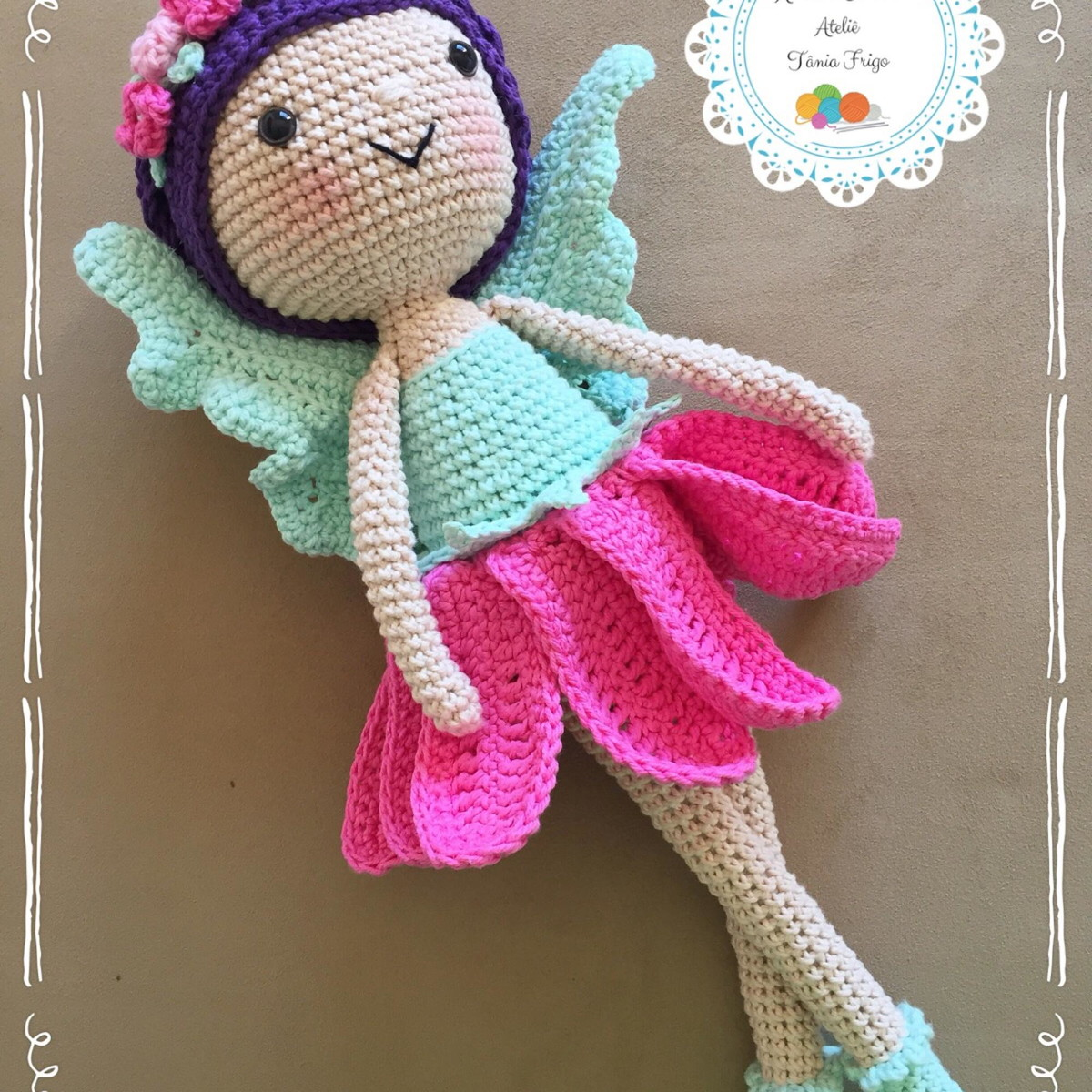 Boneca amigurumi/ boneca crochê (Angela) | Bonecas de crochê ... | 1200x1200