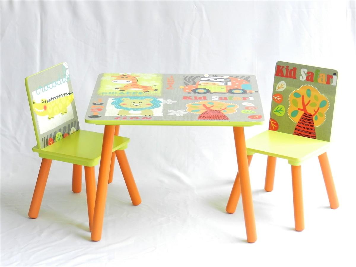 Image of: Mesa Infantil De Madeira Com 2 Cadeiras Tema Safari Zoo No Elo7 World Cadeiras C6dbb6