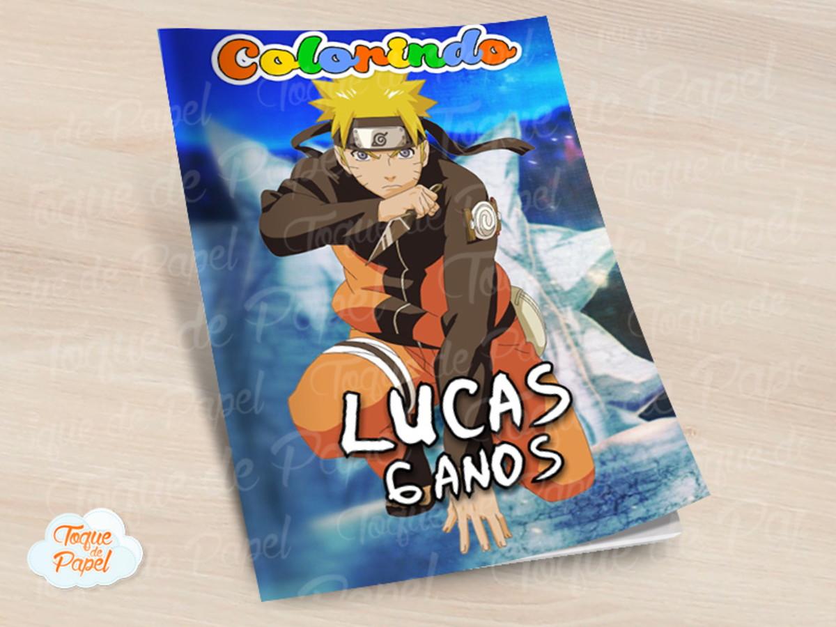 Revista Colorir Naruto No Elo7 Toque De Papel C6ef99
