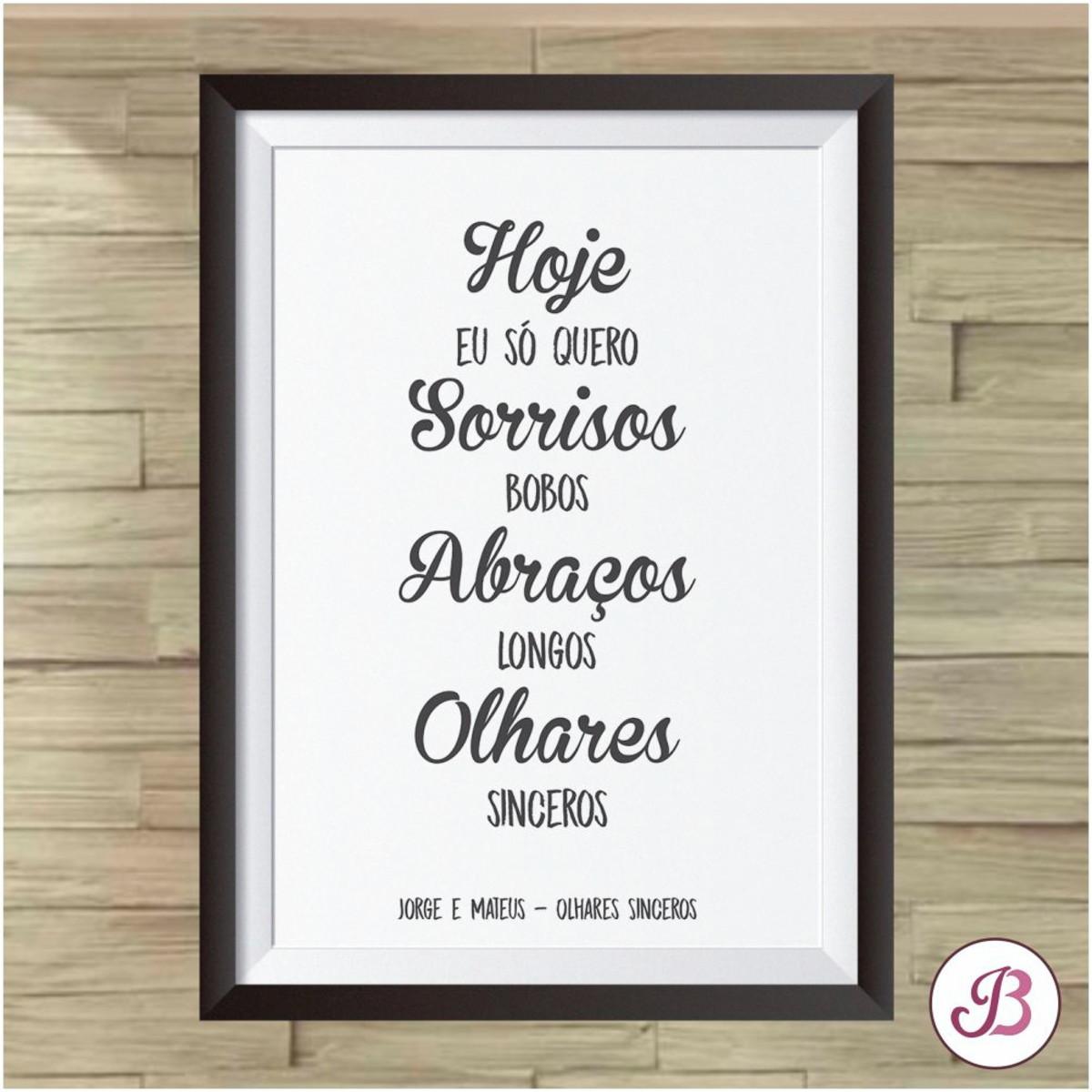 Quadro Digital Frases Jorge E Mateus