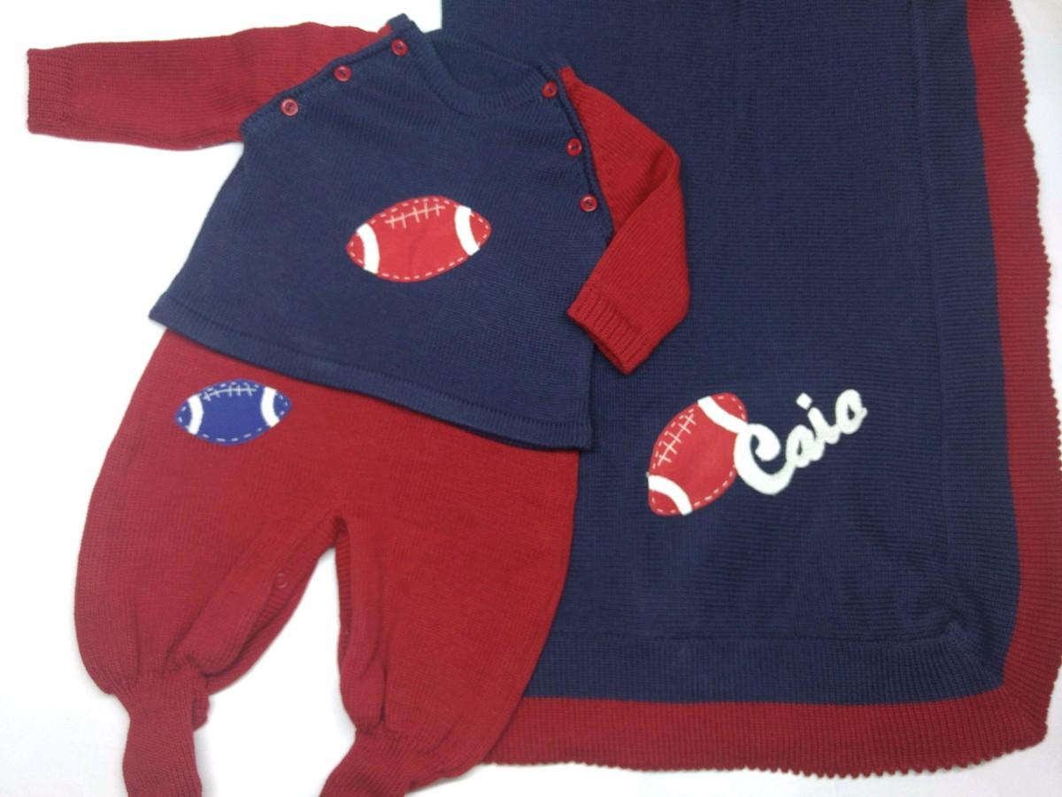 Saída De Maternidade Futebol Americano no Elo7  f089e16d869d5