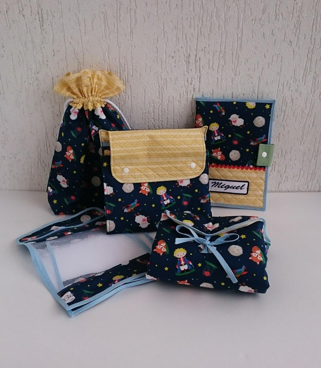 68dd209f2 Kit organização de bolsa para seu bebê pequeno príncipe azul no Elo7 ...