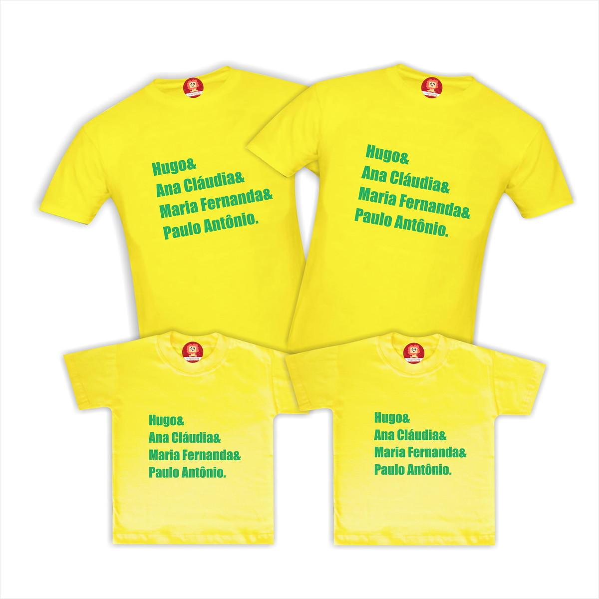 Camisetas Personalizadas com Nomes - BRASIL no Elo7  6f151db892d7d