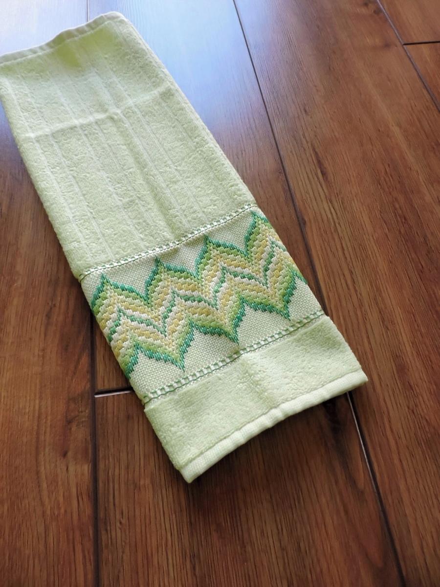 Toalha de mão – verde – ponto reto no Elo7  1f87308e4361b