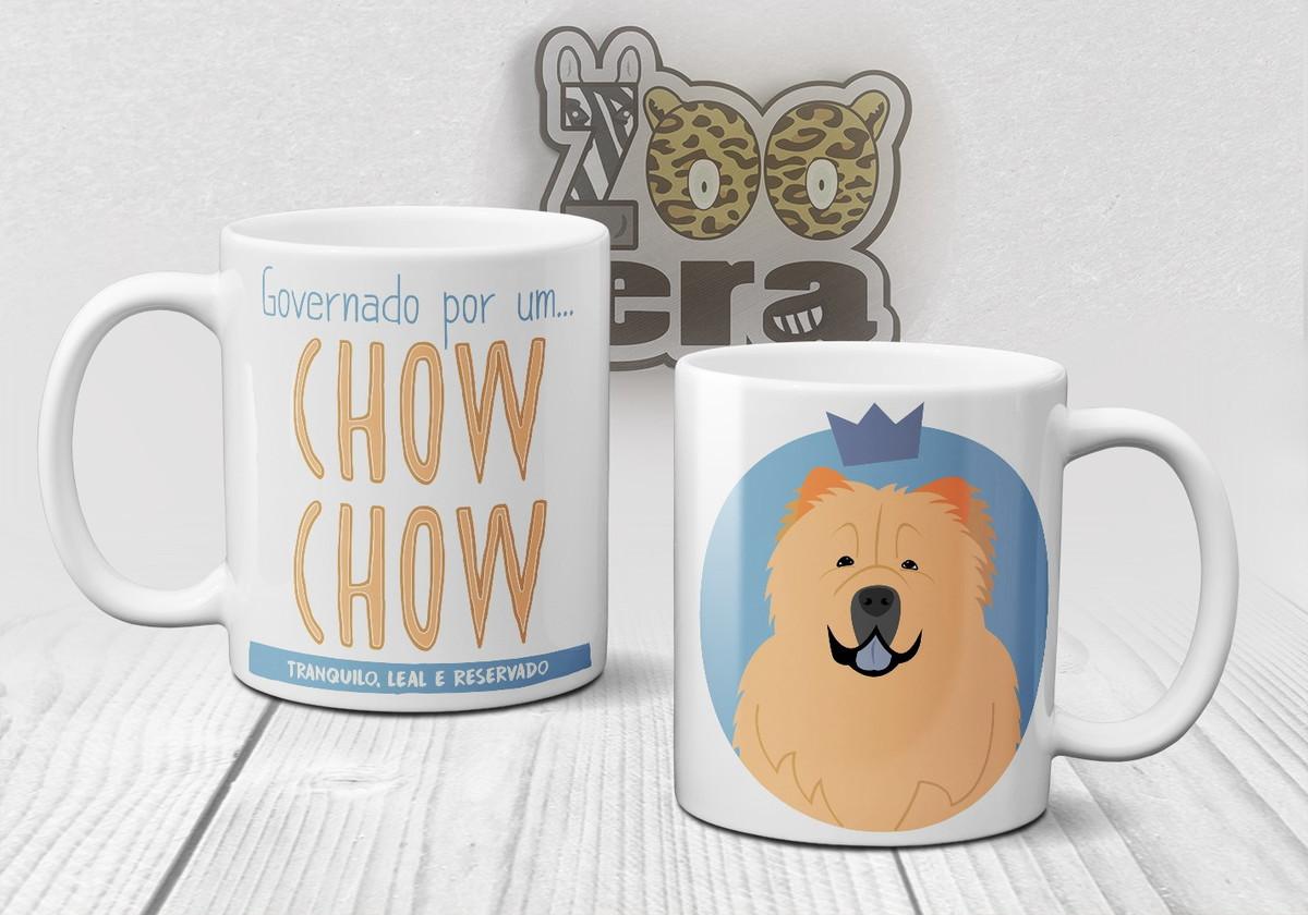 bdaac874d43 Chow Chow - Caneca de Porcelana de Cachorro no Elo7