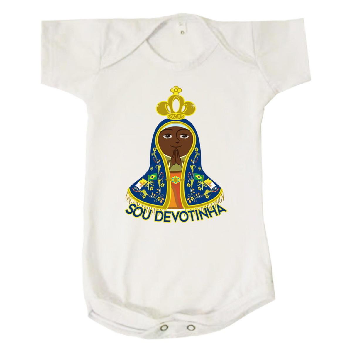 c0c461bb6f69 Body Bebê Nossa Senhora Sou Devotinha no Elo7   Loja Print Pop (6B276C)
