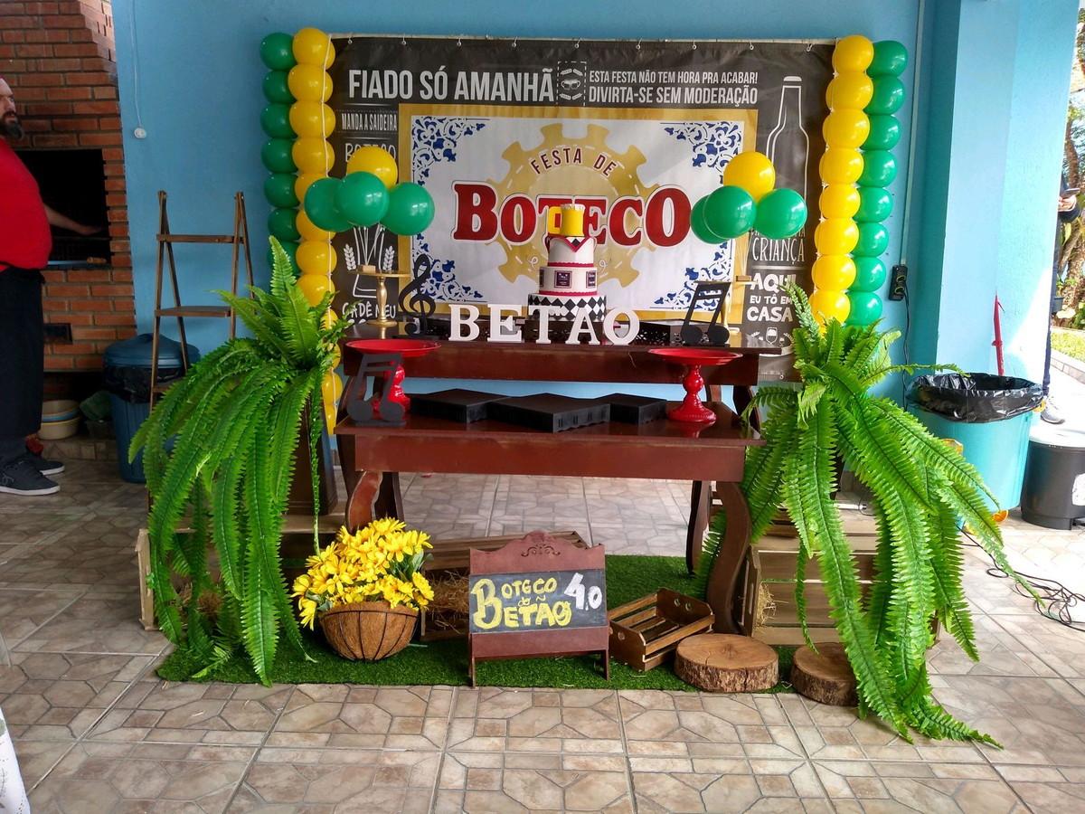 Decoraç u00e3o festa boteco no Elo7 Decor da lu (7ABF59) -> Decoração Para Festa Roda De Boteco