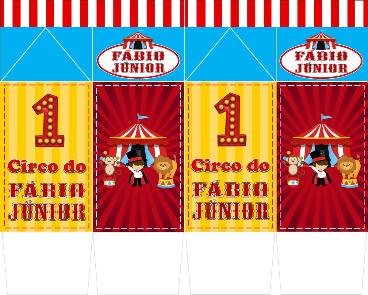 Caixa Milk Personalizada Circo No Elo7 Hora Da Festa