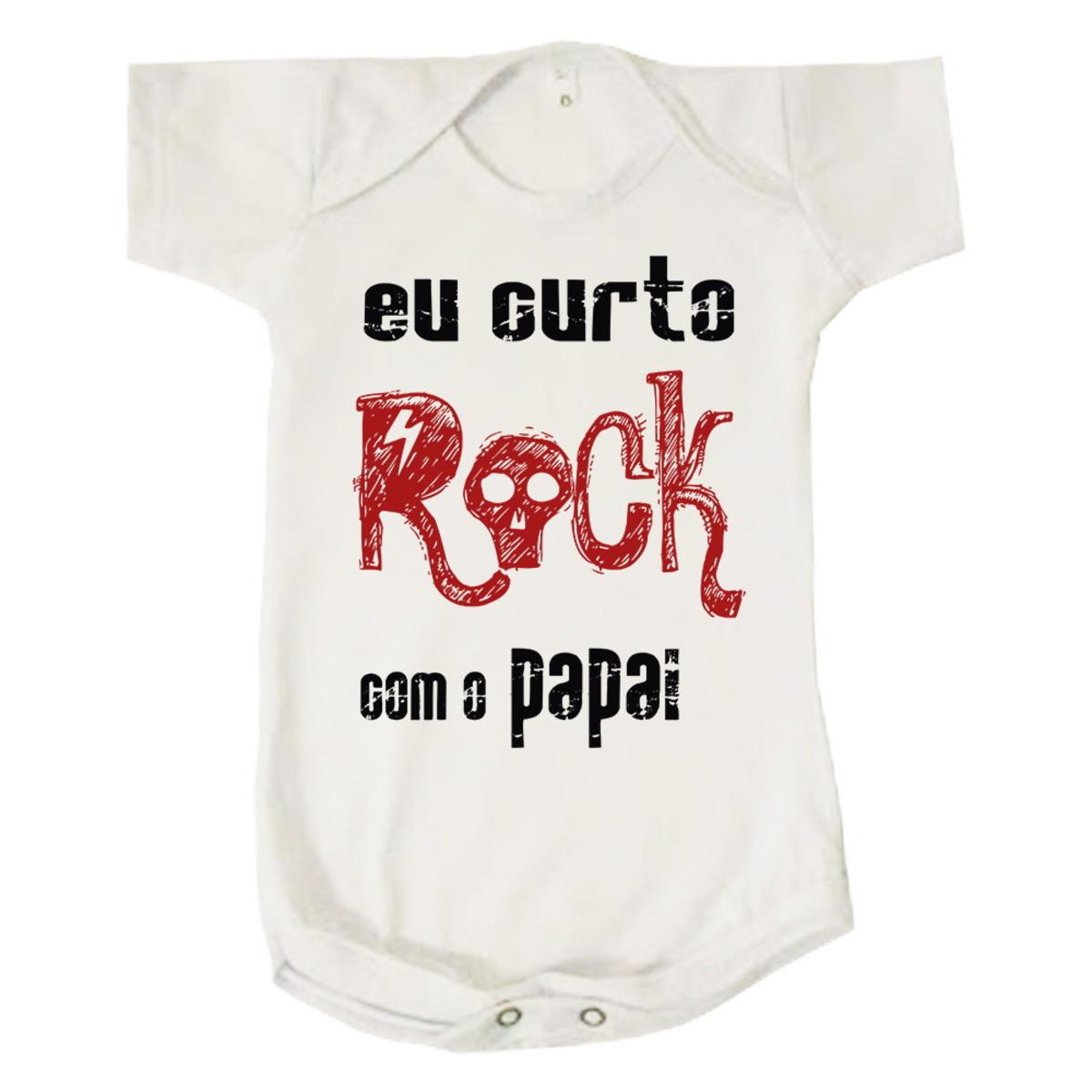 Body Bebê Rock com o Papai Infantil no Elo7  bf25e5f1552