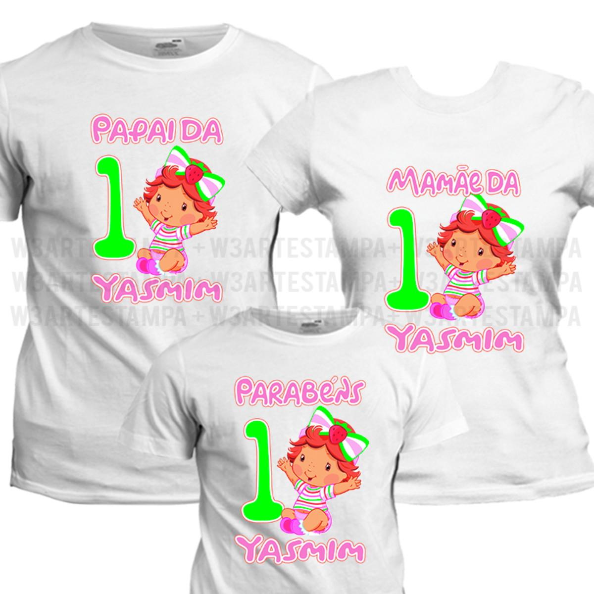 7 Camisetas bebe Moranguinho Aniversário Festa Camisas Blusa no Elo7 ... 12f56cae52e