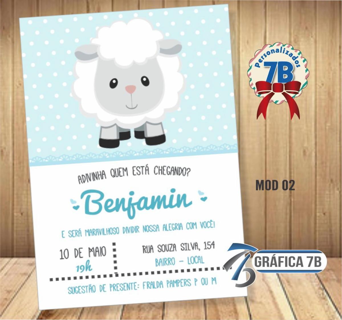 Convite Chá De Bebê Ovelhinha 02 Digital No Elo7 Gráfica 7b C7df72