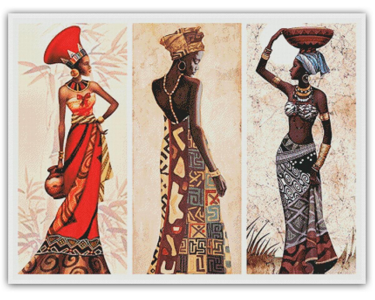 Capítulo 1 - Acústica do Coração Talhado - Página 5 Belezas-da-africa-grafico-ponto-cruz-arte