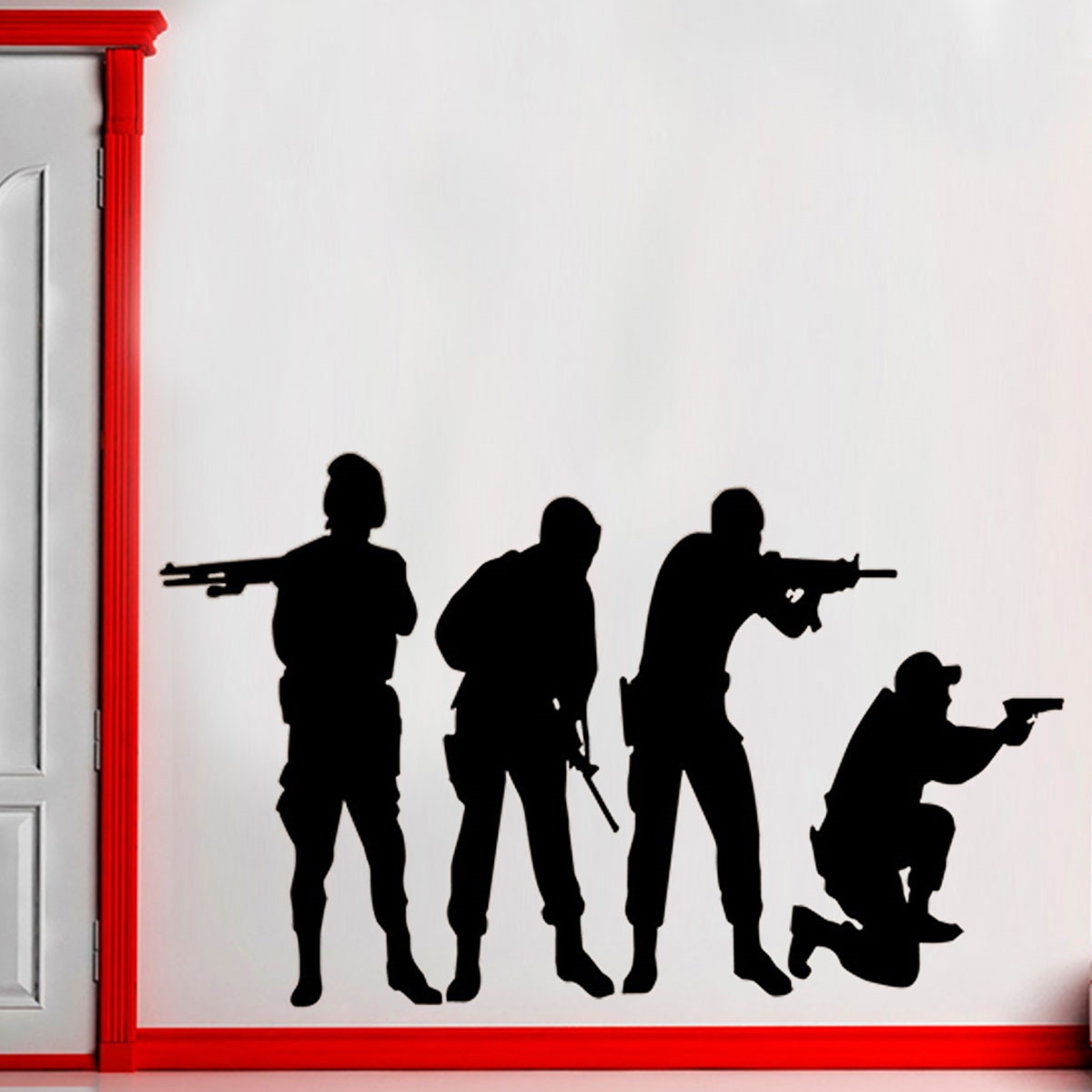Adesivo De Parede Soldados Counter Strike Eg 95x58cm No Elo7 Fran  -> Fran Adesivos