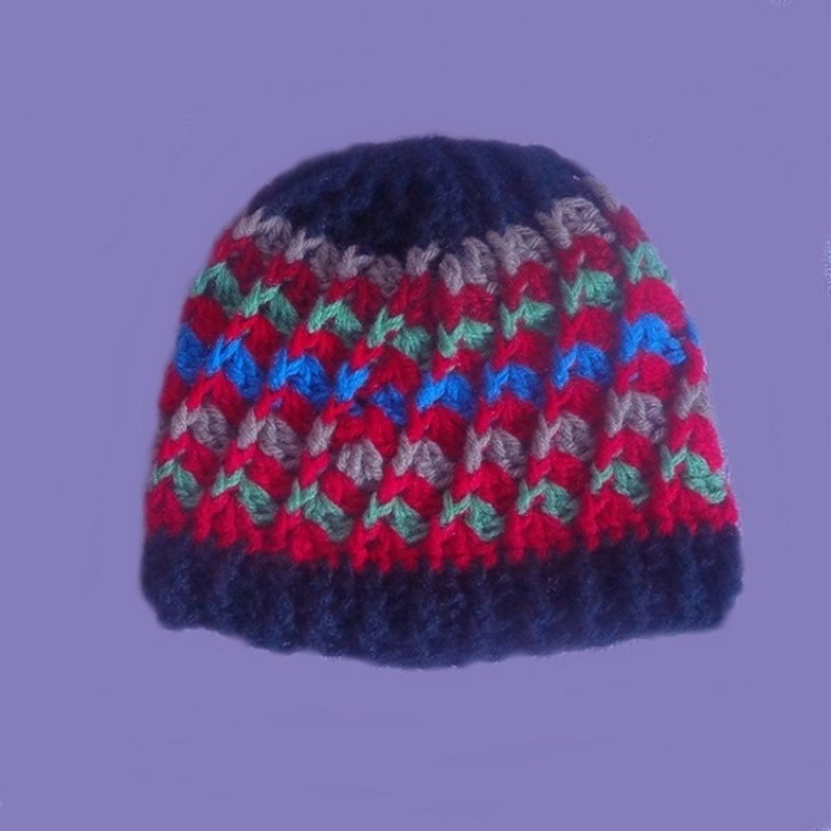 ace9efb97 Gorro crochê feito com lã p menina ou menino-Pronta entrega! no Elo7 ...