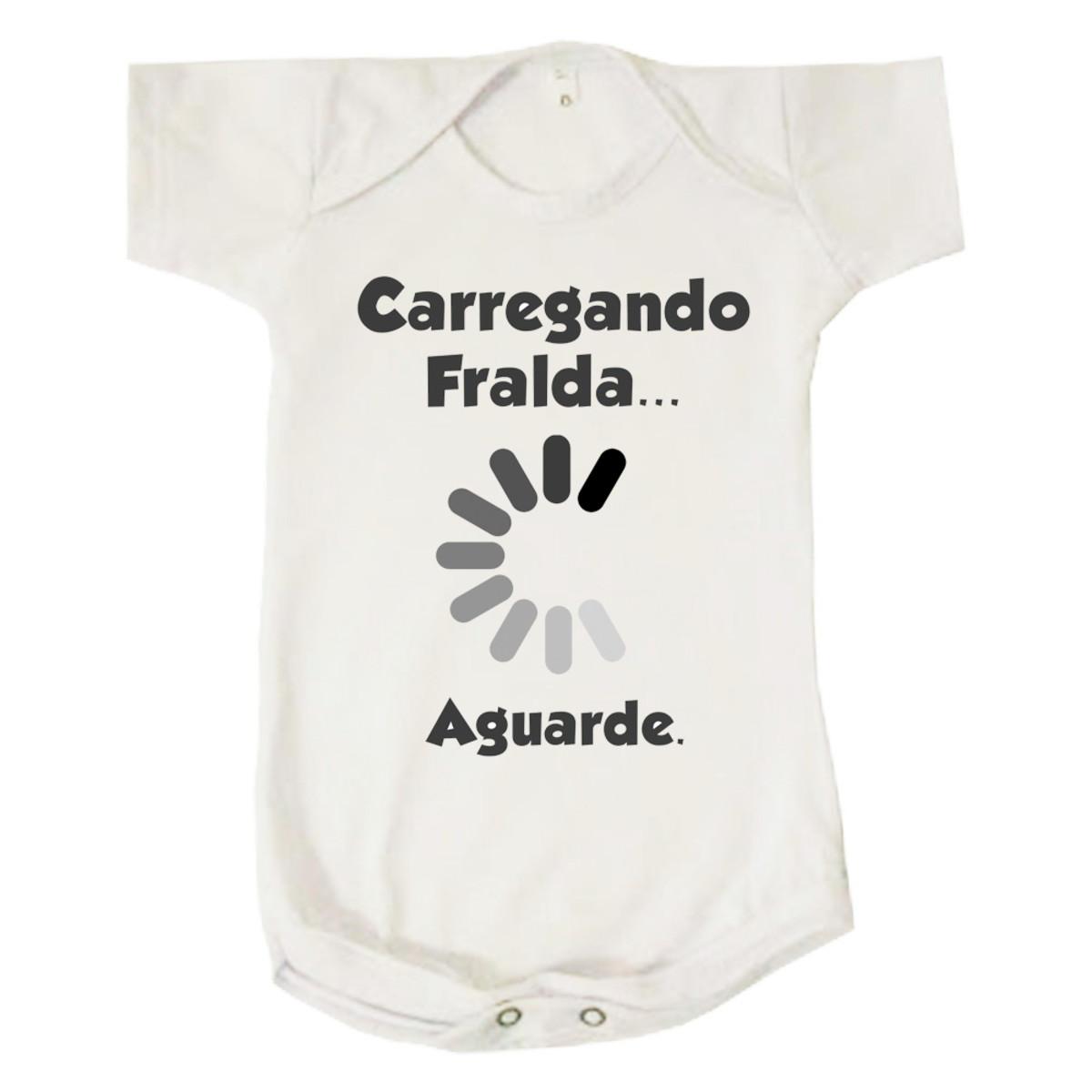 Body Bebê Infantil Divertido Carregando Fralda 00ba9a40d487e