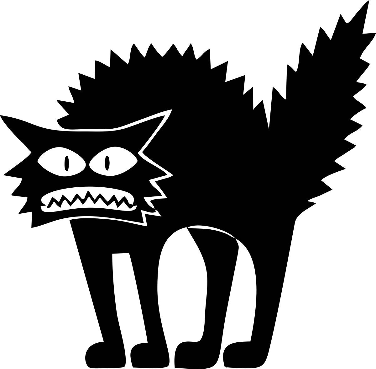 Adesivo De Parede Gato Assustado 40x40 No Elo7 So Personalizados