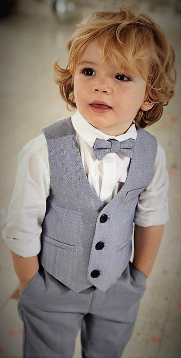 Pajem com Colete camisa e gravata cinza claro no Elo7  bd89634b178