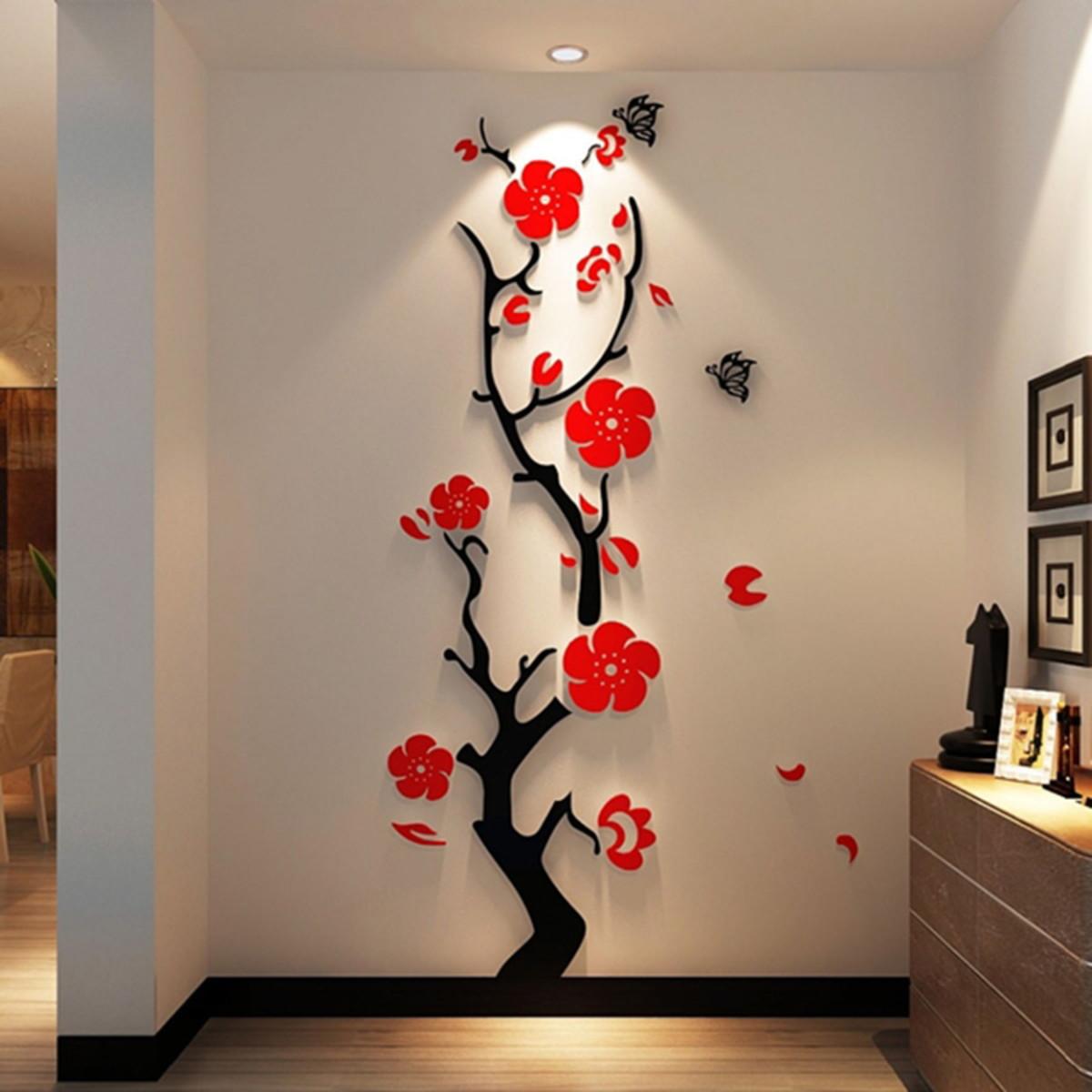 Adesivo De Parede 3d Alto Relevo árvore E Flores No Elo7 Doce