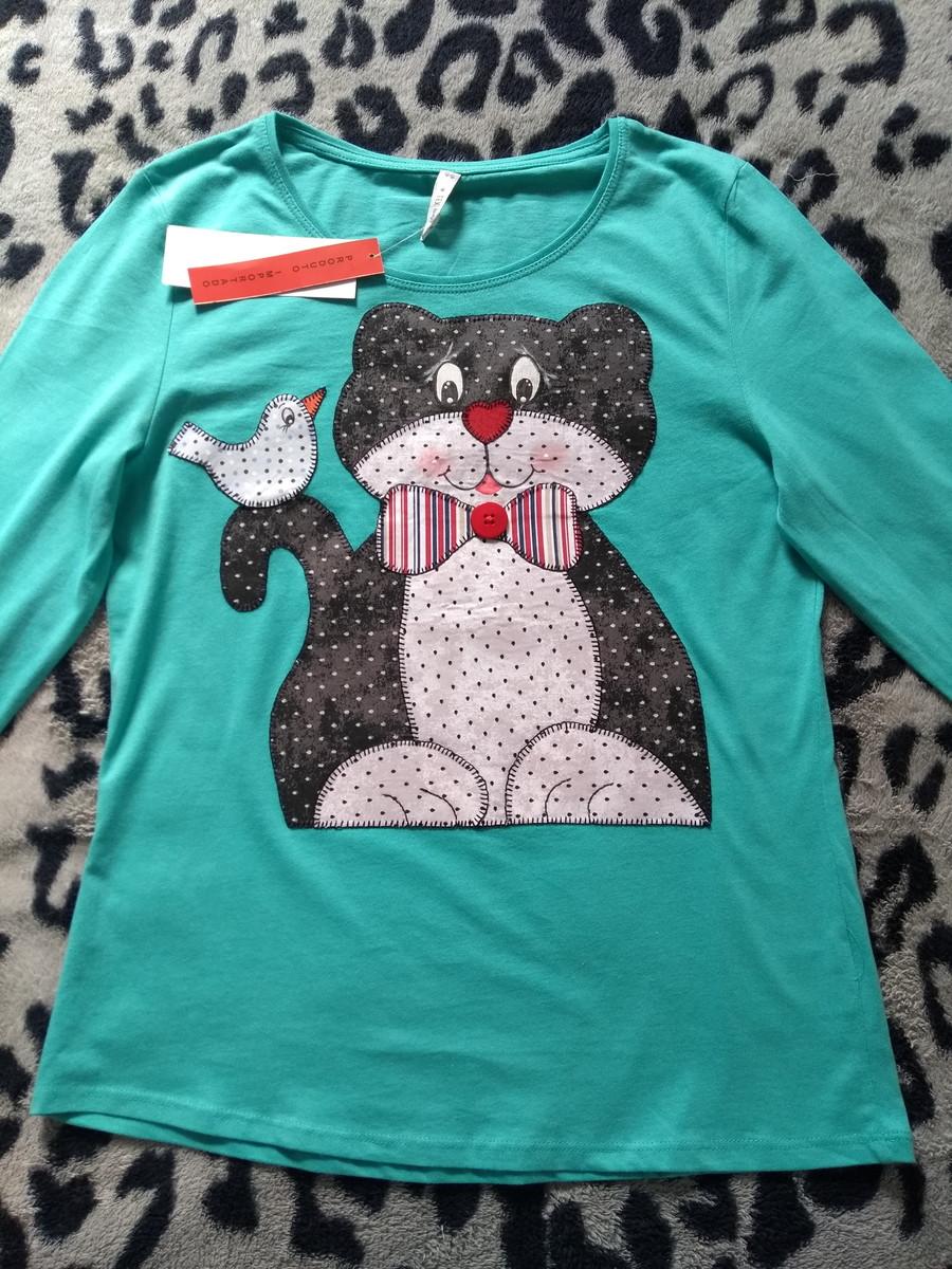 e42b9fe3bd Camiseta manga longa com bordado em patch apliqué no Elo7