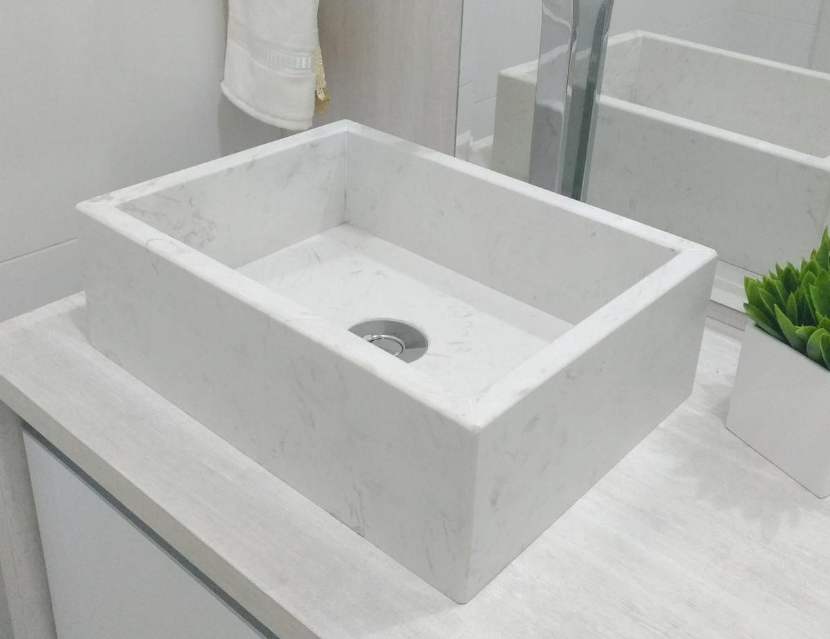 Pia Cuba Banheiro Em Granito Compacstone Branco 35 X 26cm No Elo7 Alusta Magazine C8acd6