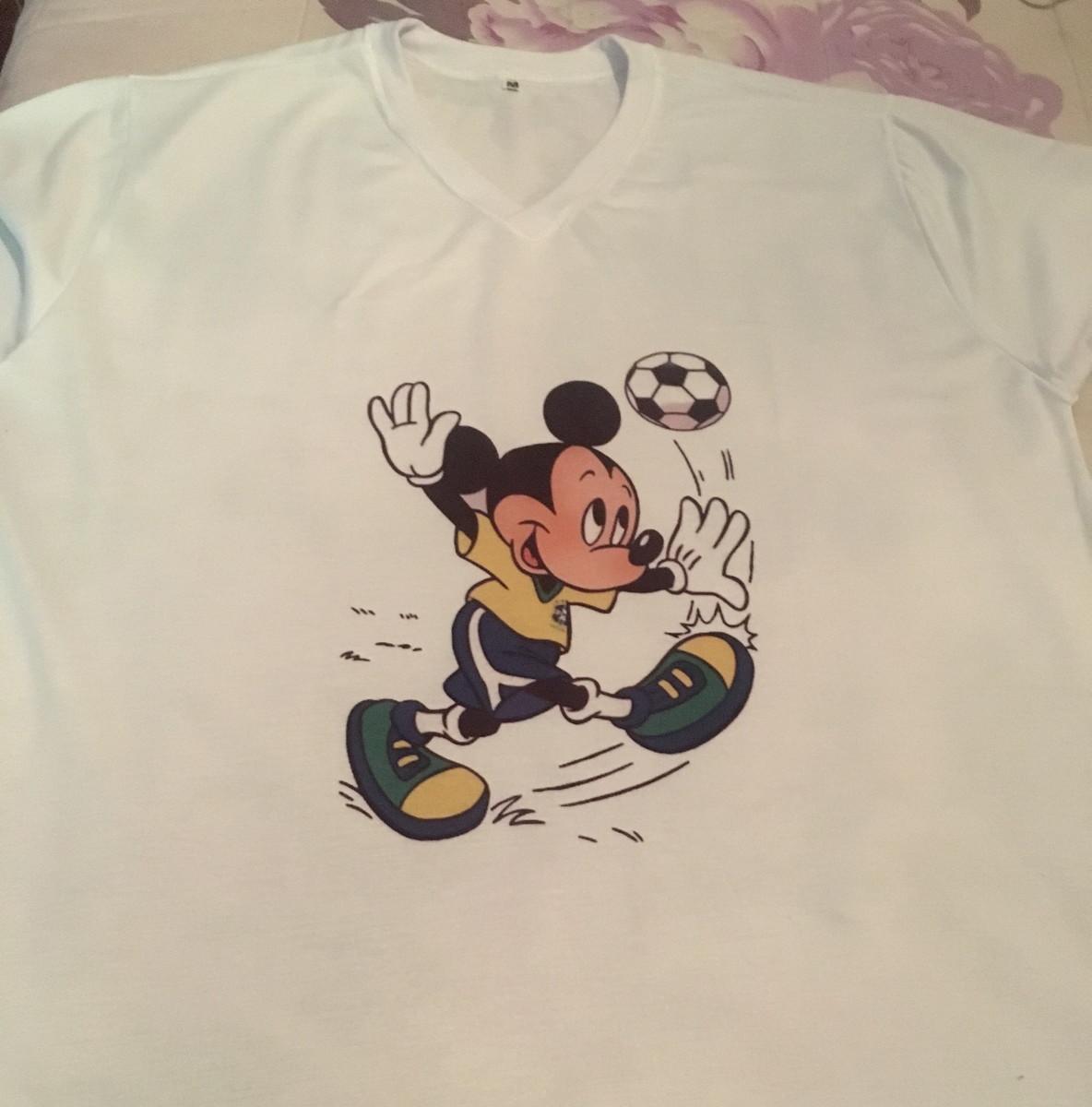 30cac441cd Camiseta Personalizada Mickey Futebol no Elo7