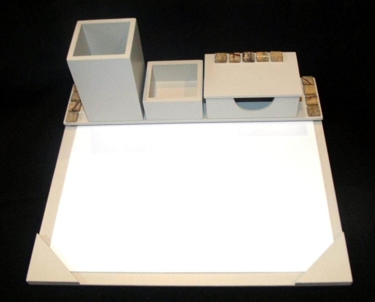 Organizador de mesa fixo 4 em 1 cor Fendi no Elo7  be49911b03eb4
