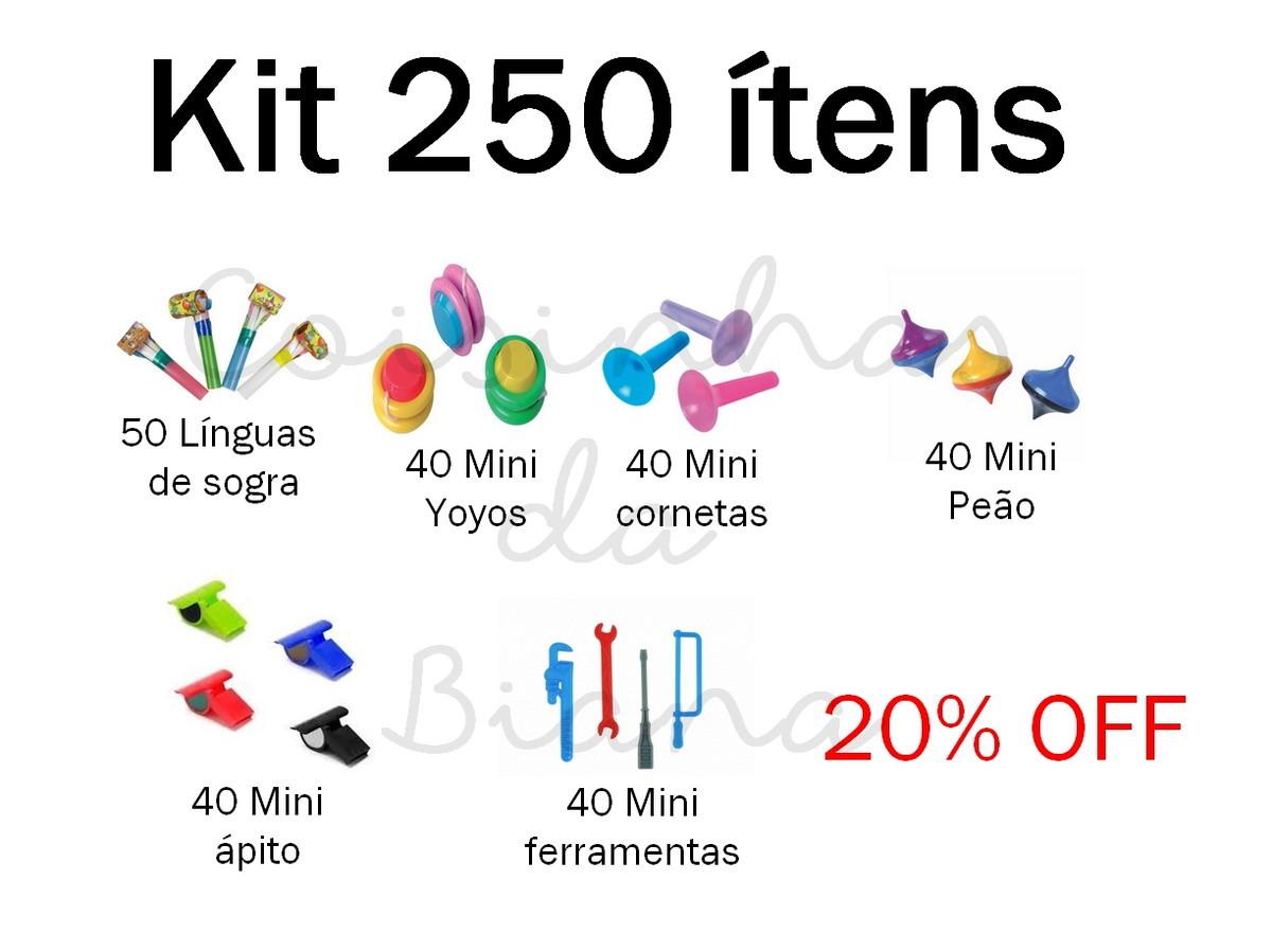 7c559015f Kit festa Mini brinquedos de 250 ítens no Elo7