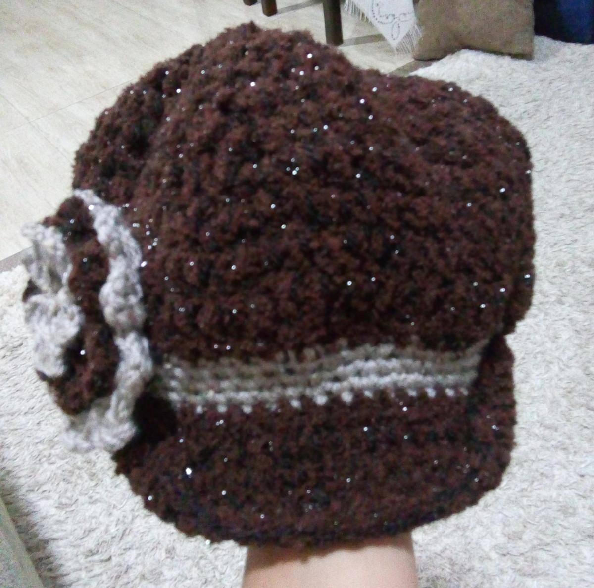 Boinas com lã brilhosa no Elo7  ade66201d1d