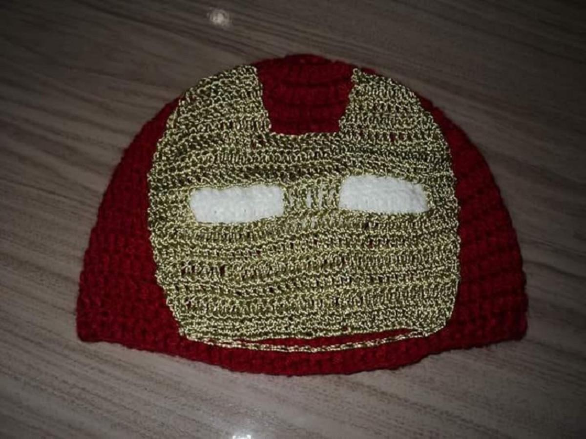 Touca Infantil Homem de Ferro - TI009 no Elo7  07838a4004d