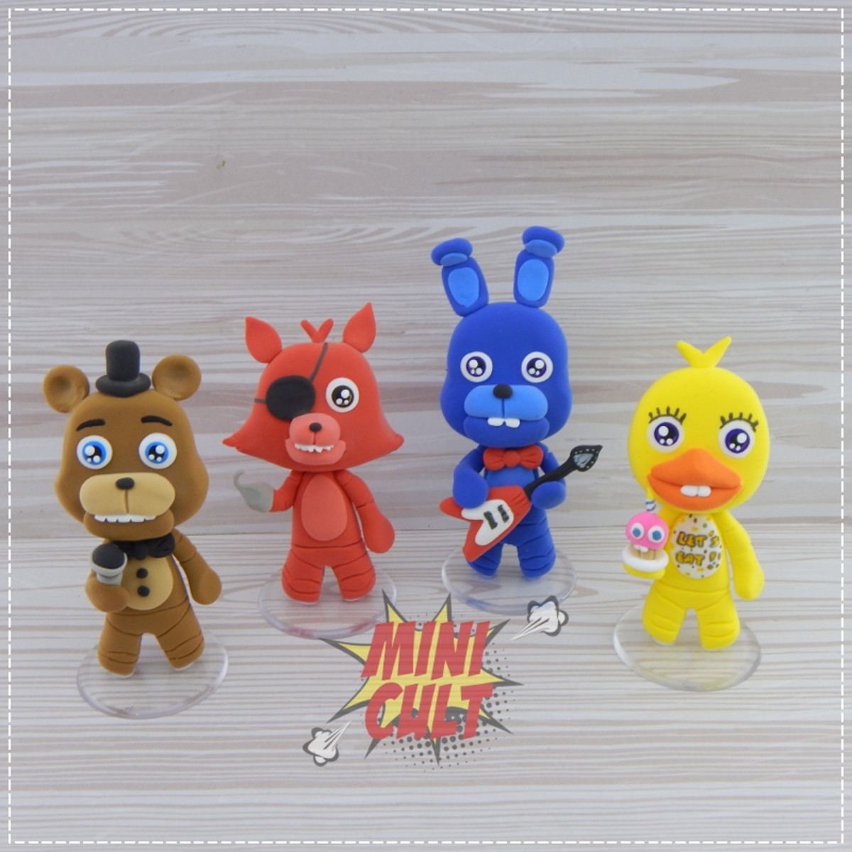 Kit Toy Five Nights At Freddy's / FNAF 4 Unidades No Elo7