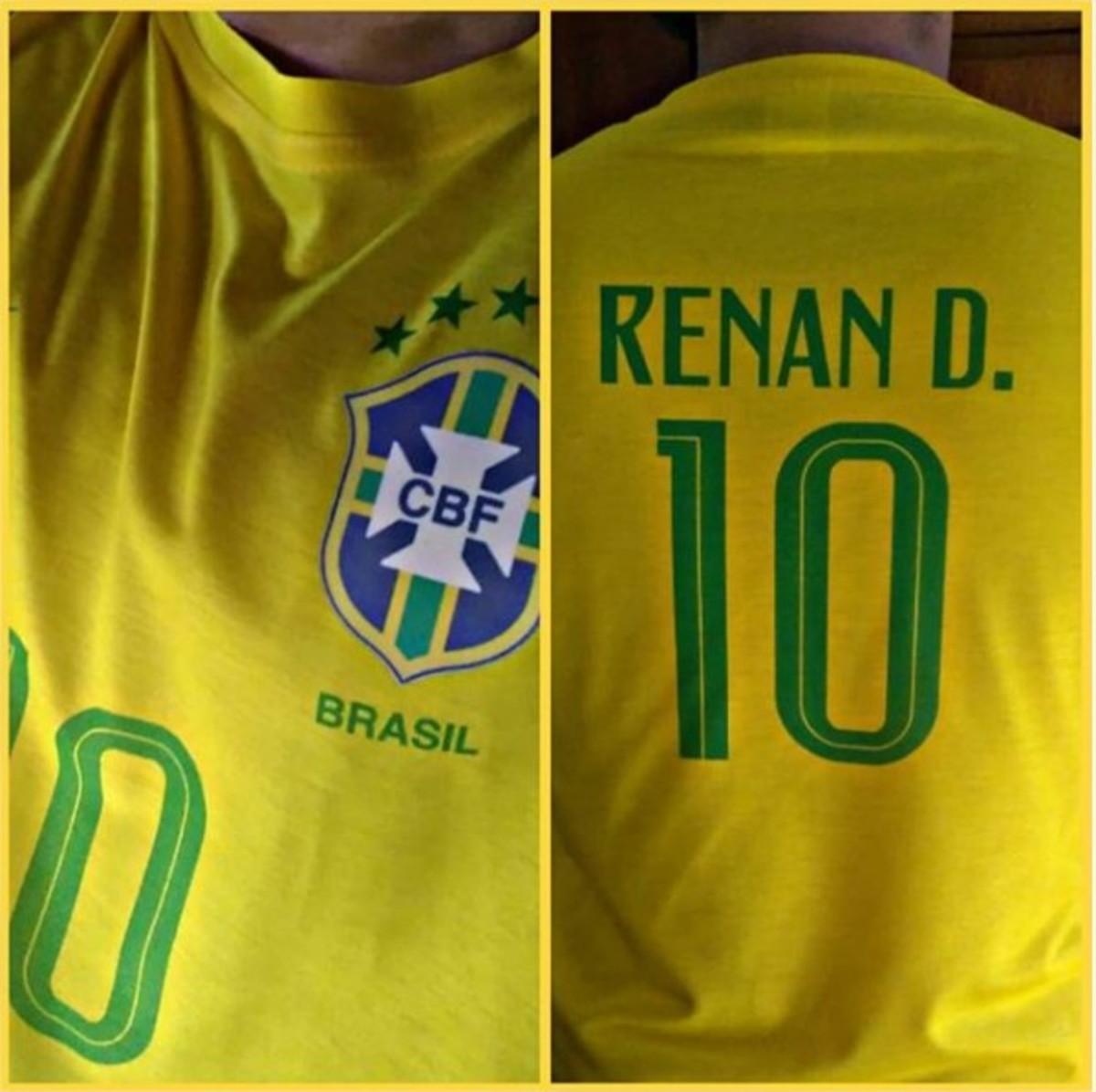 94c5031e29 Camisa Brasil com seu nome - Rumo ao Hexa na Copa do Mundo no Elo7 ...